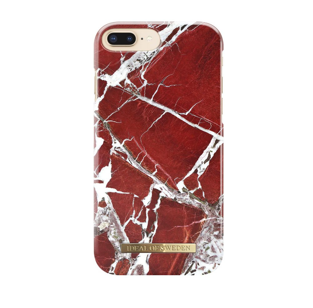 Iphone 6 Plus Red >> Ideal Of Sweden Iphone 8 7 6 6s Plus Scarlet Red Marble Arka Kapak
