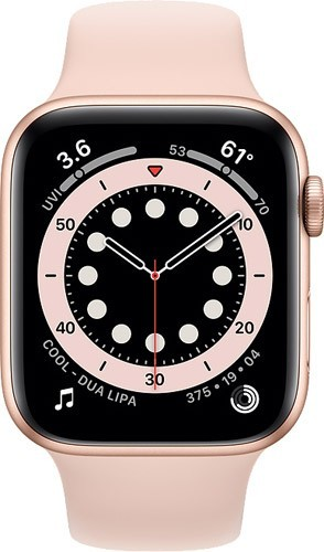 Apple Watch Series 6 GPS 44mm Gold Case With Pink Sand Sport Altın